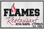 Flames Restaurant And Bar Logo Image on XploreCyprus